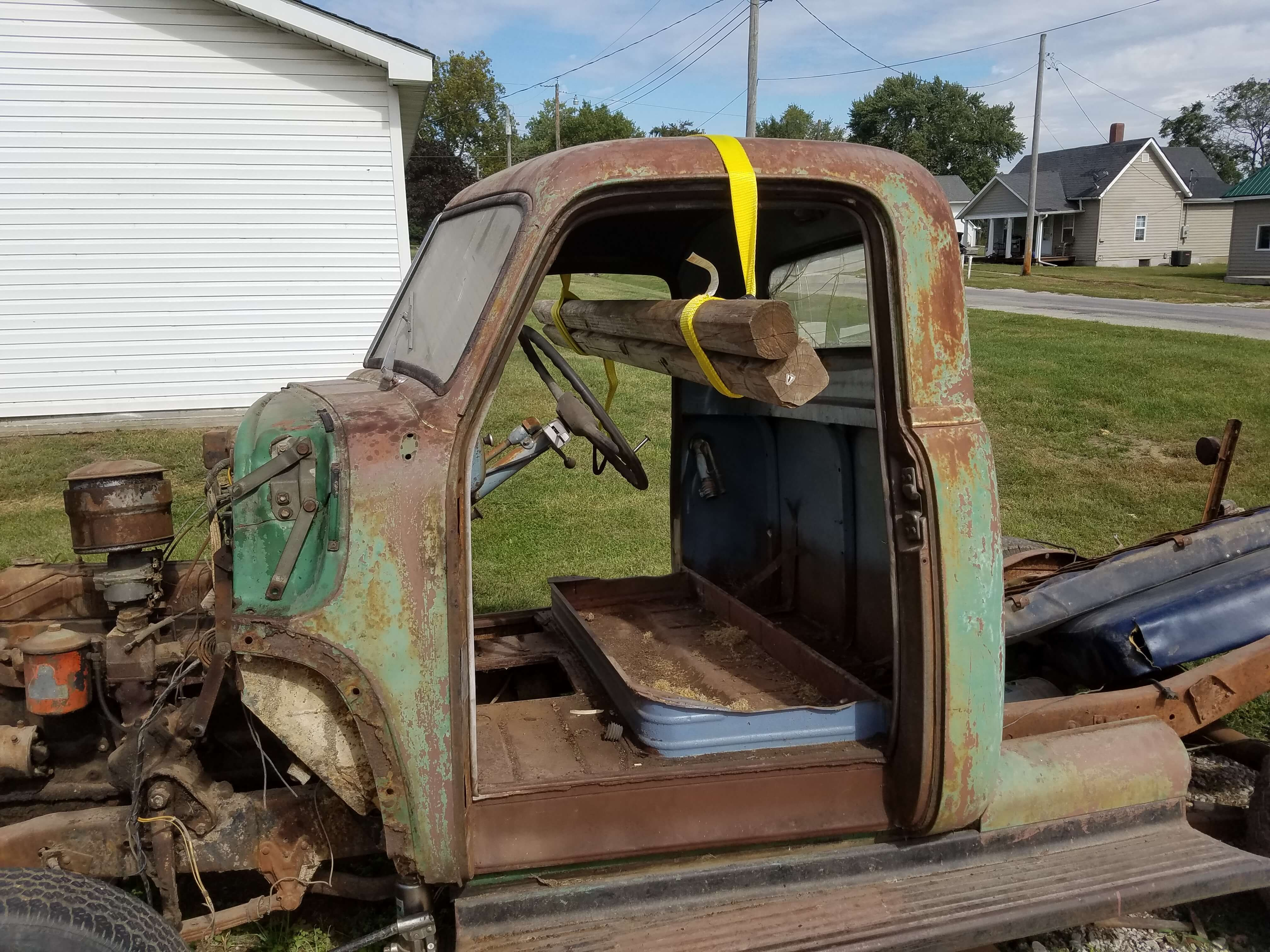 Removing 1947 54 Chevy Truck Body From Original Chassis