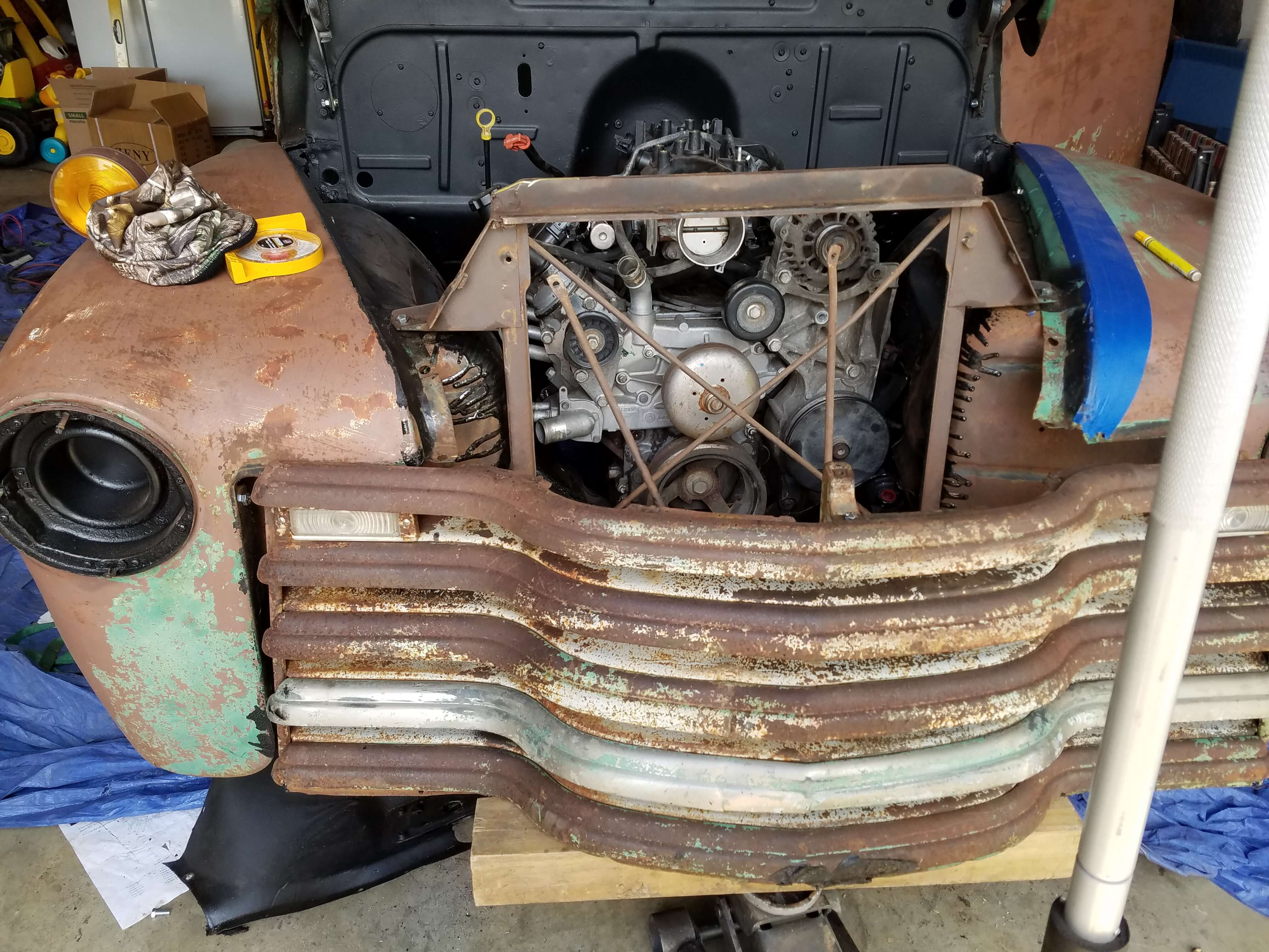 Front Clip and Radiator Install on a 1947-54 Chevy Truck on